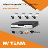 Набор CCTV Mvteam дешевый 720p Ahd DVR для оптовой продажи с взглядом Mvt-Kah04 P2p дистанционным
