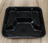 3 parcelas de recipiente de alimento descartável plástico da micrôonda de Obentos com tampa