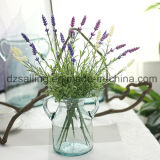Оптовый цветок лаванды Artificail пластичный для украшения дома венчания (SW20201)
