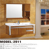 Alta qualità Solid Wood Floor Standing Bathroom Vanity con Mirror Cabinet