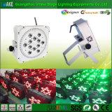 alto indicatore luminoso senza fili di PARITÀ della batteria di luminosità RGBW LED di 12PCS 4W