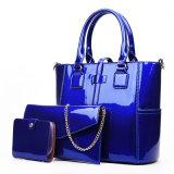 Signora stabilita Handbag della donna del progettista della pelle verniciata del sacchetto composito di PCS del Tote 3 di modo