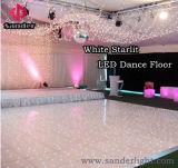 Беспроволочная танцевальная площадка с белой акриловой танцевальной площадкой мерцания СИД для свадебного банкета