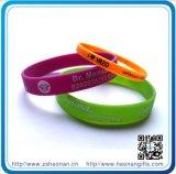 Bande de pouce des bracelets 1/2 de bracelets de silicones de Debossed pour des cadeaux de promotion