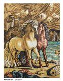 Mattonelle di mosaico fatte a mano della maschera del mosaico di arte della pittura del cavallo