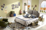 [فوشن] مدينة أثاث لازم صاحب مصنع حديث ليّنة جلد سرير مع لوحة رأسيّة