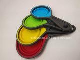 Nous et cuvettes de mesure compressibles de vente de l'Europe de vaisselle de cuisine chaude de silicones
