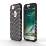 Plein cas d'iPhone de fibre de carbone de la protection 360