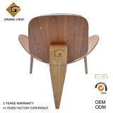 Gewebe-Kissen-Aufenthaltsraum-hölzerner Shell-Stuhl (GV-CH07)