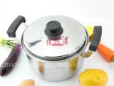 POT della minestra della manopola della bachelite del doppio dell'acciaio inossidabile (FT-2000)
