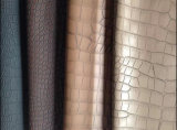 Do crocodilo do teste padrão série popular do couro do plutônio para o couro do vestuário (HS-ZR1)
