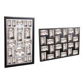 Het houten Frame van de Foto van de Collage in Zwarte Kleur