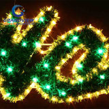 Grands 2m DEL Merry Christmas Sign Motif DEL Warm White Rope Lights