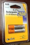 Батарея AAA 1.2V 2600mAh Ni-MH перезаряжаемые