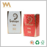 Caixa de papel de carimbo de ouro e de gravação do perfume para mulheres