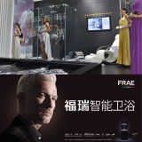 Puertas de cristal de la ducha del diseño de la humanización hechas en pantalla de ducha de cristal Bifold del recinto de cristal de la ducha de China