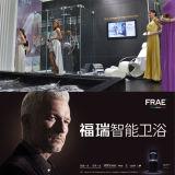 Acessórios de vidro Bi-Fold do banheiro da tela de chuveiro do cerco do chuveiro do vidro Tempered