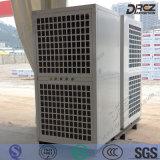 Assoalho empacotado que está o condicionamento de ar industrial para a barraca da exposição
