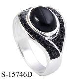Un anello d'argento di vendita caldo 2016 dei 925 uomini della fabbrica con l'agata