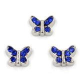 Mariposa linda con los encantos flotantes de Birthstones para el Locket de cristal