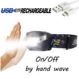 Фара Headlamp USB CREE СИД света головной лампы датчика движения водоустойчивая Hands-Free перезаряжаемые