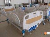 Cama de hospital manual Double-Function movible con la cabeza de la cama del ABS