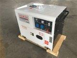 ホームおよび企業の使用のための携帯用5kw無声ディーゼル発電機