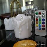 18 de Afstandsbediening van sleutels met Kaars van de LEIDENE RGB Batterij van de Vlam Plastic