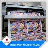 papier de transfert visqueux de sublimation de taille de roulis de sublimation de 100GSM Bset pour des vêtements de sport
