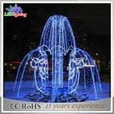 3D personalizzato assiste l'indicatore luminoso esterno della fontana di natale