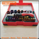 28PCS Color Socket Magnetic Driver Bit Set