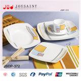 vaisselle carrée de la forme 12PCS