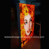 A caixa leve da tela de alumínio lateral dobro do diodo emissor de luz para a posição livre assina dentro ao ar livre