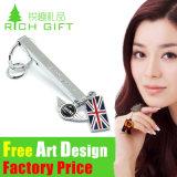 Form-mögen kundenspezifische Metallauto-Zeichen-Marke Jeep Keychain