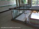 Personalizado Escalera de vidrio con aluminio railling