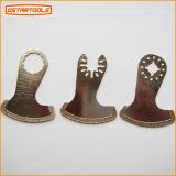 Алмазный резец частей запасных частей електричюеского инструмента лезвия ножа формы ботинка осциллируя увидел лезвие