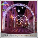 Luzes decorativas do arco da rua, rua da iluminação do motivo do diodo emissor de luz