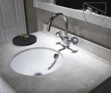 [كبك] [بثرومّ] بيضاء خزفيّة يغسل تحت حوض مضادّة ([سن007])