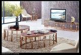 Cadeiras da sala de jantar/ouro dourados de aço modernos da tabela jantar de Mable