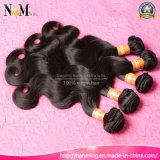 Pelo negro natural de la Virgen de la onda de la carrocería de China del color natural natural barato al por mayor de la onda