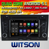 Witson Android 5.1 Car DVD GPS pour Audi A4 / S4 / RS4 (2002-2008) avec Chipset 1080P 16g ROM WiFi 3G Internet DVR Support (A5764)