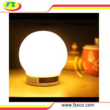 Altavoz romántico de Bluetooth del reloj del reloj de alarma del vector/del escritorio/de lectura de la lámpara de la iluminación del regalo de la promoción
