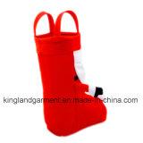 Polyester-Qualitäts-Weihnachtsdekoration-Sankt-Art-rote Süßigkeit-Aufladung