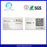 Tarjeta del PVC del código o del código de barras de Qr
