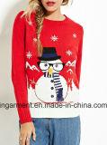 Signora Oversized Cotton Sweatershirt dal disegno di lavoro a maglia