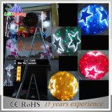 Grandi indicatori luminosi delle sfere del LED 3D di natale variopinto esterno della decorazione