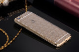 Caja flexible suave de parachoques cristalina del teléfono de Bling con el diamante alrededor