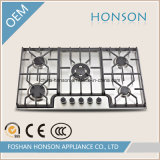 Cinque Burner Built in Stainless Steel Gas Hob
