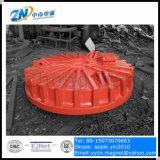 El imán de elevación de la carrocería del molde para la grúa de 16 toneladas con el panel de control para el acero del cargamento desecha Cmw5-210L/1