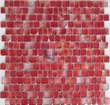 赤い端の割れた芸術の水晶モザイク(CFC325)
